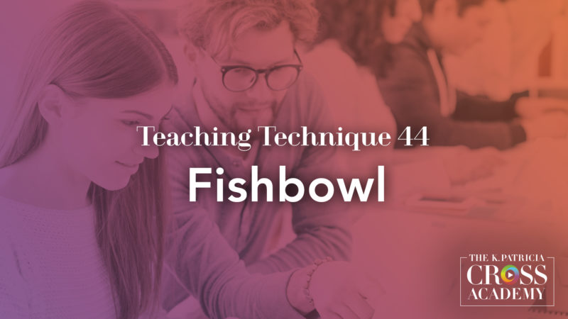 Technique #44 - Fishbowl